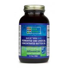 Blue Ice Royal Blend fermentovaný olej z tresčej pečene + maslový olej - natural